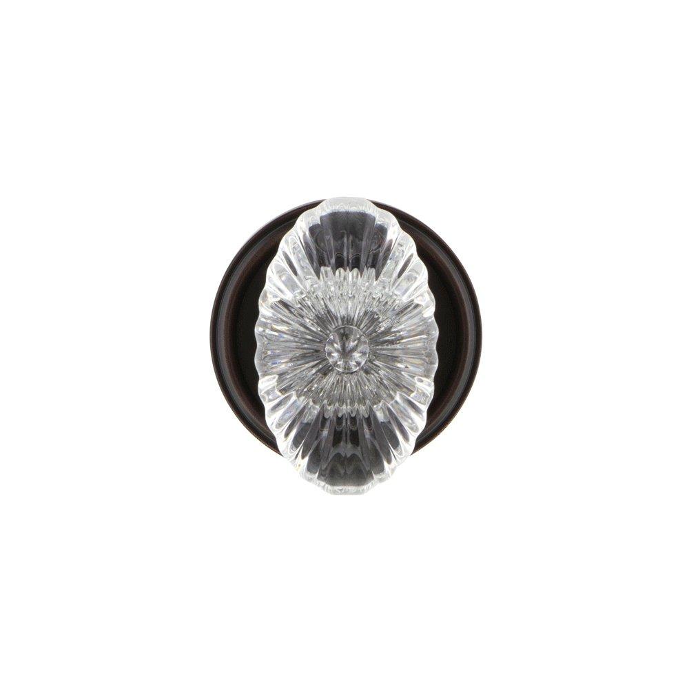 2.375 Privacy Grandeur Georgetown Rosette with Burgundy Crystal Knob Timeless Bronze