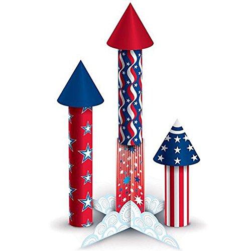 3-D Firecracker Centerpiece Set 6