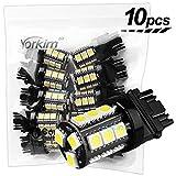 Yorkim Super Bright 3157 LED Light Bulbs White Pack of 10, 3157 LED