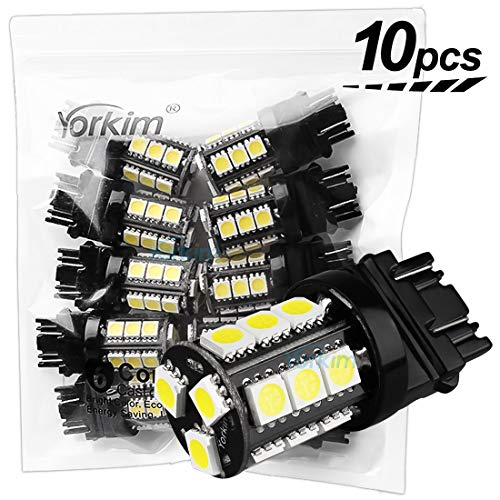 German Range Long - Yorkim Super Bright 3157 LED Light Bulbs White Pack of 10, 3157 LED Brake Lights, 3157 LED Backup Reverse Lights, 3156 LED Reverse Tail Lights, Turn Signal Led - 3056 3156 3057 3157 4157 LED Bulbs
