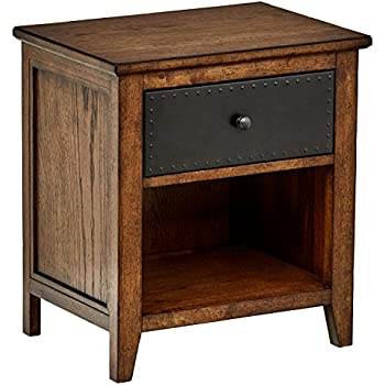 stone beam newport nightstand 22 w toffee oak. Black Bedroom Furniture Sets. Home Design Ideas