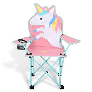 Pleasant Kaboer Kids Outdoor Folding Lawn And Camping Chair With Cup Holder Unicorn Camp Chair Pdpeps Interior Chair Design Pdpepsorg