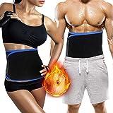 Biange Waist Trainer, Waist Trimmer Belt for Men & Women, Weight Loss Slimmer Belt, Low Back Lumbar Support, Wrap Belly Sweat Enhancer Adjustable Stomach Fat Burner, Fit for Fitness, Weight Lifting