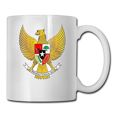 Indonesia Coat Of Arms - LoveoorheebGHu Funny Coat Of Arms Of Indonesia Unique Coffee Mug 11 Oz White Ceramic Cup For Tea