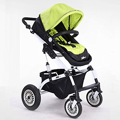 YIHANGG Baby Trolley Child Baby Stroller Can Sit Can Lie Down Two-way Fold Four Rounds High Landscape Baby Children Strollers Travel Stroller,Yellow