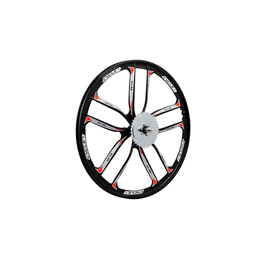 BBR Tuning 26 Inch Heavy Duty 10 Spoke STAR Motorized Bike Disc Brake Mag Wheel Set for Beach Cruisers, MTB's, and Gas Powered Bicycles