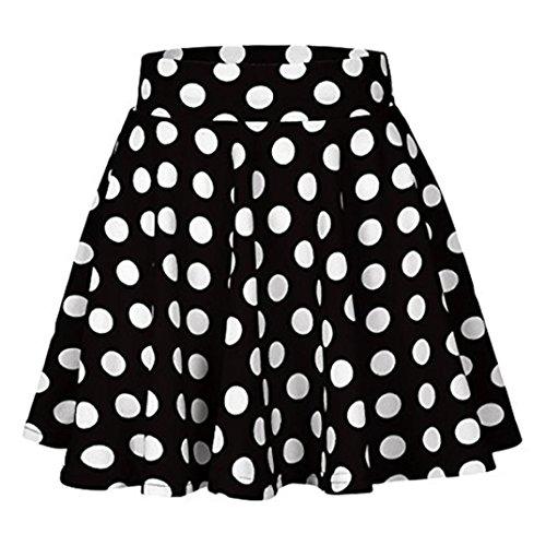 Cocktail Fashion Jupe Summer ESAILQ Imprim Taille Dot Party Noir Haute Femmes Jupe Midi AExBwxfn