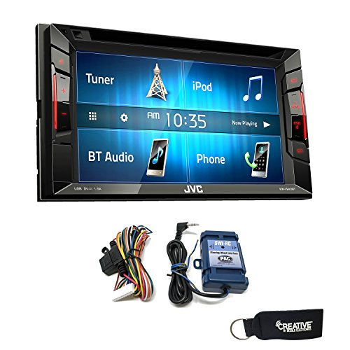 JVC KW-V240BT BT/DVD/CD/USB Receiver with 6.2-inch Touch Panel - Includes Steering Wheel Control Interface ()