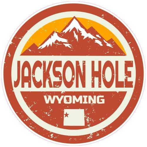 city wy wyoming BLACK Oval JH Jackson Hole Sticker