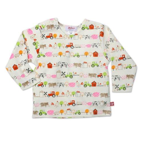 Zutano Baby Girls' Little Farm Organic Long Sleeve Tee