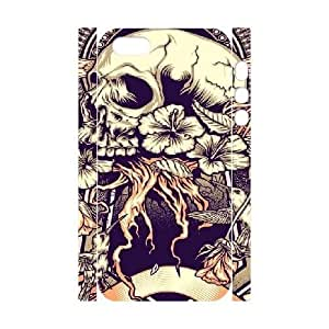 3D Scared Skull Desgins,fashion,art Case For Sam Sung Note 4 Cover Cases, Protector Cute Cute Case For Sam Sung Note 4 Cover Teen Girls Stevebrown5v {White}