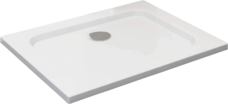 70 x 90 cm sin desag/üe VILSTEIN VS-DD01-70x90W/_VAR Plato de ducha Blanco