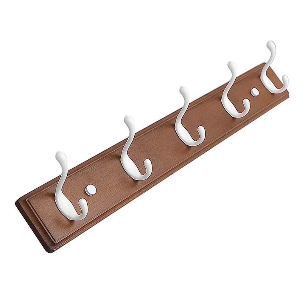 B 5 hooks GJD Coat hooksuropean Wall Hangers SolidHangers Hanger Bedroom Bedroom Living Room Door Hook Coat Hooks, (color   C, Size   3 Hooks)