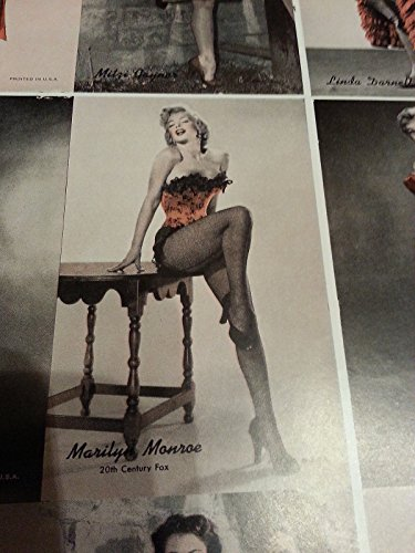 1950'S marilyn monore ACTRESS/PIN UP ARCADE EXHIBIT CARD UNCUT SHEET POSTER