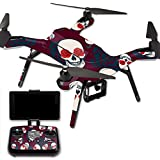 MightySkins Protective Vinyl Skin Decal for 3DR Solo Drone Quadcopter wrap cover sticker skins Skulls N Roses