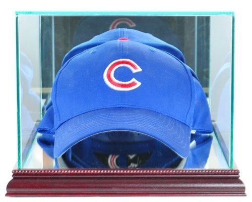 Display Hat Cap Case (Glass Cap / Hat Display Case with Cherry Wood Molding)