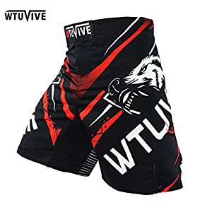 WTUVIVE MMA 2017 New Boxing Features Sports Training Muay Thai Fitness Personal Fight Shorts Muay Thai Boxing Shorts MMA
