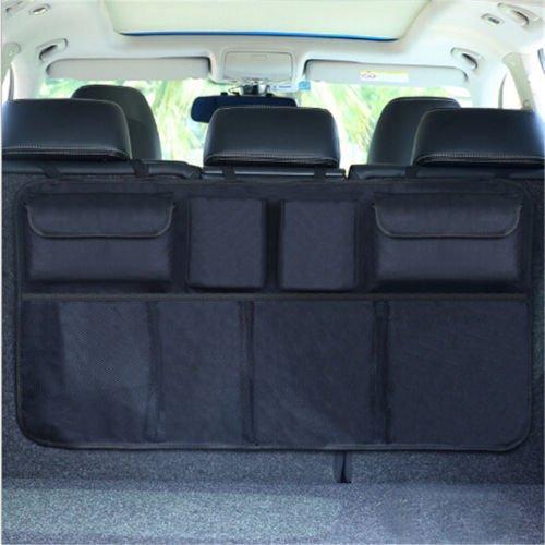 ric Hanging Auto Car Organizer Trunk Back Seat Storage Bag Mesh Net Pocket - Storage Bag ()
