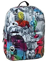 Star Wars 16 Sequined Kids Backpack - Rainbow