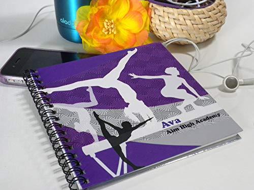 Personalized Girls Gymnastics Scorebook