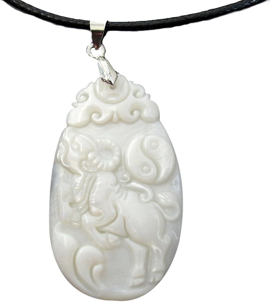 Natural Shell Chinese Zodiac Animals Amulet Pendant