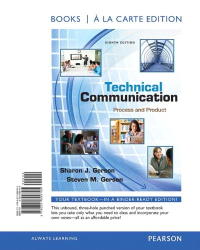 Technical Communication: Process and Product, Books a la Carte Plus NEW MyTechCommLab with eText - Access Card Package (
