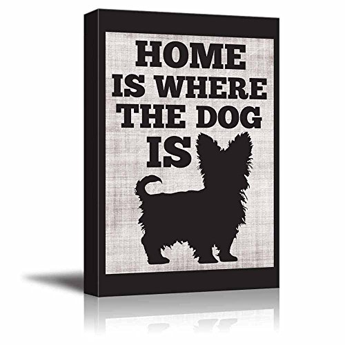 Home is Where The Dog is Yorkshire Terrier Cute Typographic Slihouette Design Fun Young Design
