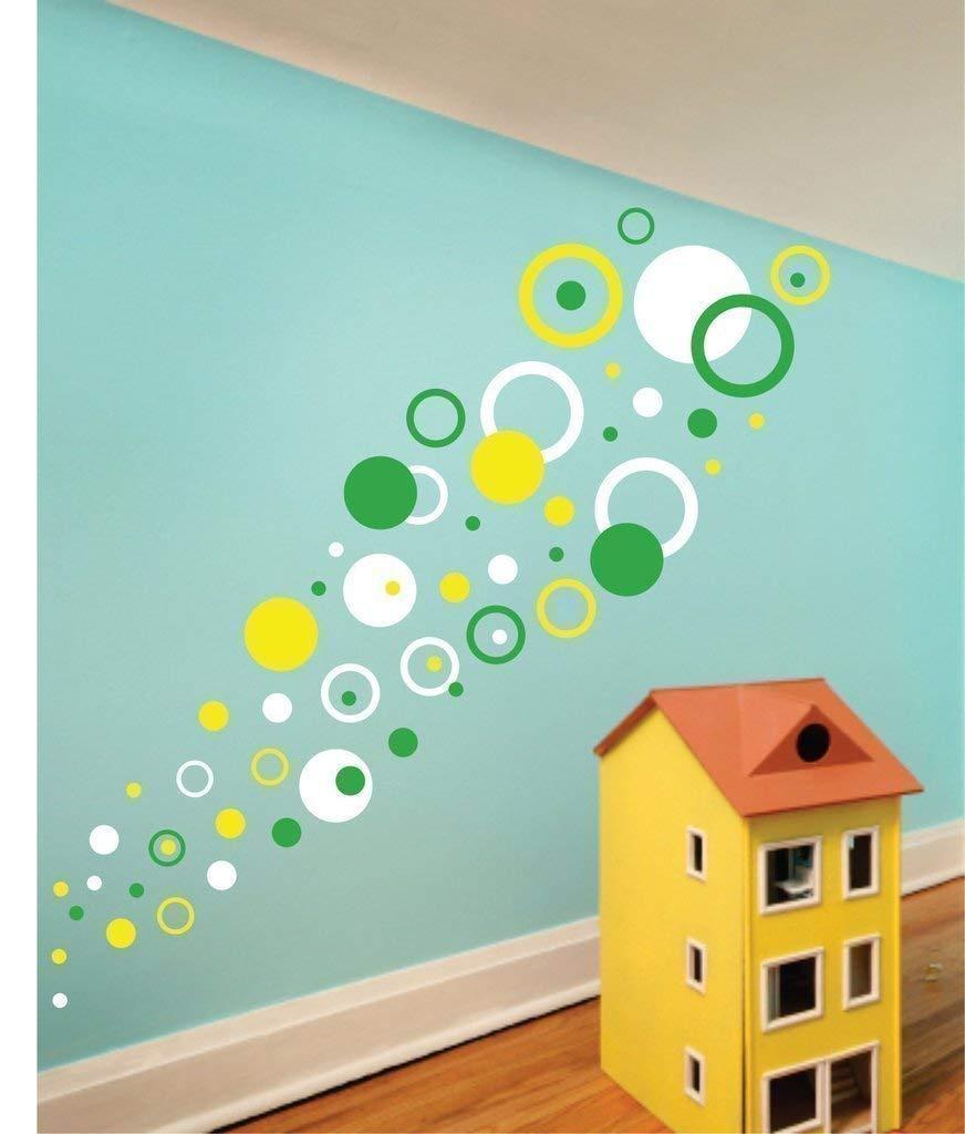 Polka Dot Wall Stickers Rings and Circles Wall Stickers Playroom Decor