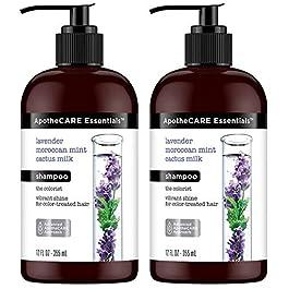 ApotheCARE Essentials Shampoo – The Colorist – With Lavender, Moroccan Mint, Cactus Milk – Net Wt. 12 FL OZ (355 mL) Per Bottle – Pack of 2 Bottles
