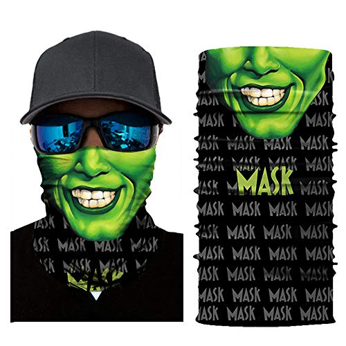 Alangbudu Windproof Seamless Face Mask Bandana for Riding Cycling Motorcycle Multifunctional Headwear (1-Q, Free Size)