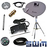 DirecTV SWM SL3S Portable Satellite RV Dish Kit Camping Tailgating with Tripod SWiM and level