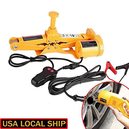 Heavy Duty Electric Scissor Car Jack Lift 3 Ton 1/2