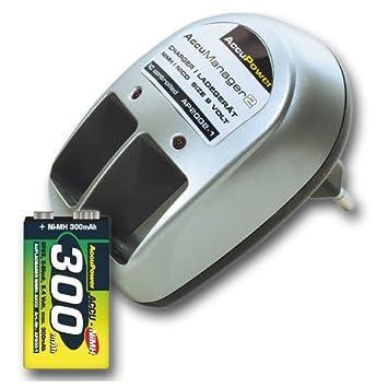 AccuPower cargador de batería de 1-2 incluyendo 1x pila de ...