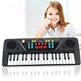 Alizzee 37 Keys Digital Music Electronic Keyboard Organ Piano Keyboard and Microphone Toys, Mini Child Early Education Music Electronic Organ, Intelligence Kids Key Board Piano With free Microphone Gift for 2-10 years children