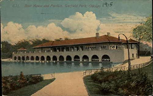 Boat House And Pavilion Garfield Park Chicago Illinois Il Original Vintage Postcard At Amazon S Entertainment Collectibles Store