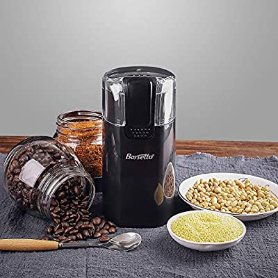 Coffee Grinder Barsetto Electric One-Touch HyperGrind Precision Stainless Steel Blades Mill with Large Grinding Capacity and Upgrade Noiseless Motor also for Coffee Bean Spices Herbs Nuts Grains