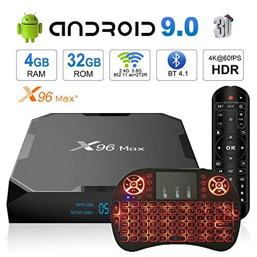 Android TV Box 9.0 X96 Max+ Smart TV Box Amlogic S905X2 Quad Core 4GB 32GB Support USB 2.4G WiFi BT 1000M 4K Media…