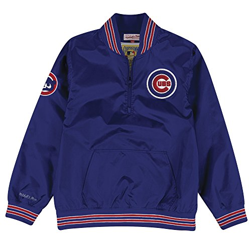 Chicago Cubs Mitchell & Ness MLB Men's 1/4 Zip Nylon Pullover (Chicago Cubs Pullover)