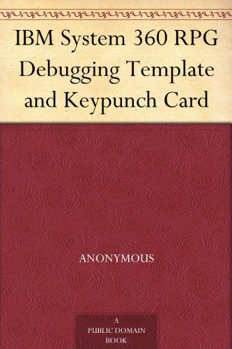 IBM System 360 RPG Debugging Template and Keypunch Card
