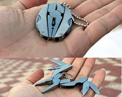 1 Pc Grand Unique Keychain Frames Mini Pocket Multi Function Foldaway Knife Useful Multiple Tool Utility Accessories Quick Strap Wrist Finder Bottle Opener Men Women Teen Teenagers Girls Color - Outlet Queens Town