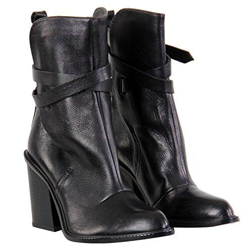 DIESEL Damen Leder Stiefelette Schuhe COVENT Black G01004 Größe 39