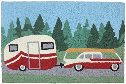 Pulling the Camper Going on Family Vacation 33 X 21 Inch Acc