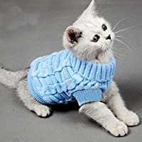 Bro'Bear Cable Knit Turtleneck Sweater for Small Dogs & Cats Knitwear