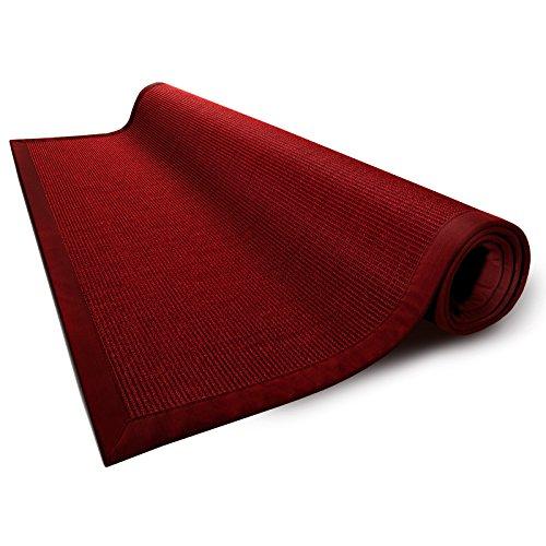 casa-pura-Amazonas-100-Natural-Sisal-Runner-with-Cotton-Border-Red-Non-Slip-Latex-Backing-5-Colors