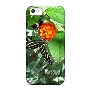 Snap-on Case Designed For Iphone 5c- Zebra Butterfly