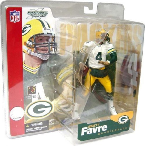 Brett Favre 1st Edition #4 Green Bay Packers White Jersey Variant Chase Alternate McFarlane NFL Series 4 Action Figure