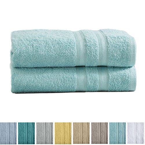 Great Bay Home 2-Pack Premium 100% Cotton Bath Towel Set  Mu