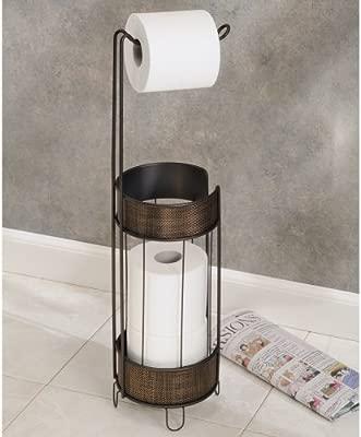 Interdesign Twillo Distributeur Papier Toilette Porte Papier Wc En Métal Et Plastique Sans Perçage Couleur Bronze