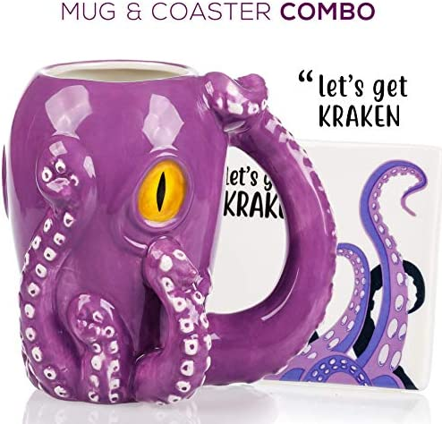 Octopus Mug Coaster Gift Set product image