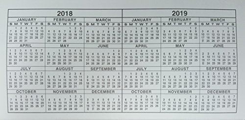 2 year monthly planner pocket calendar  3x6 inches  2018